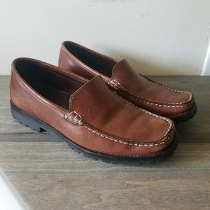 Cole Haan Womens Brown Slip on Non Skid Loafers 5.